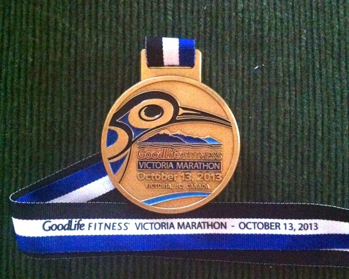 GoodLife Fitness Victoria Marathon Finisher's Medal