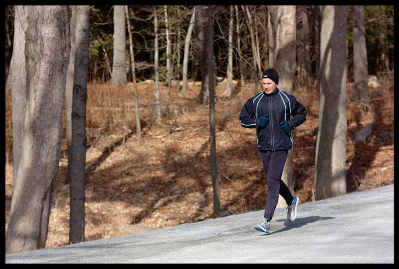 A new runner running in the park