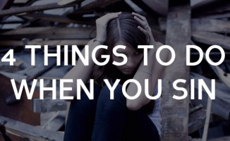4 Things to do when you sin