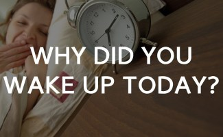 Why did you wake up today? 4 motives that drive our lives