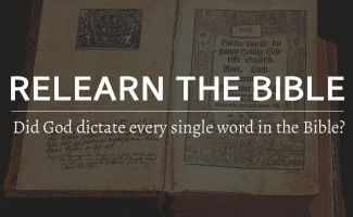 Did God dictate every single word in the Bible?