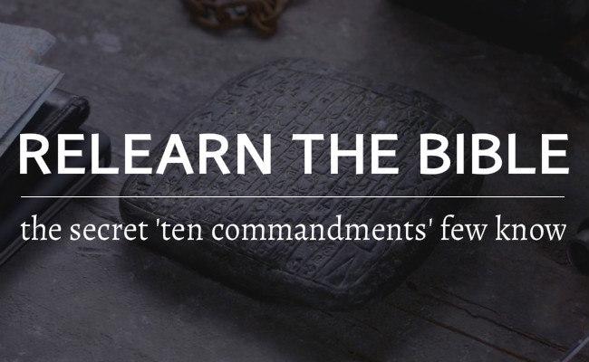 the real ten commandments