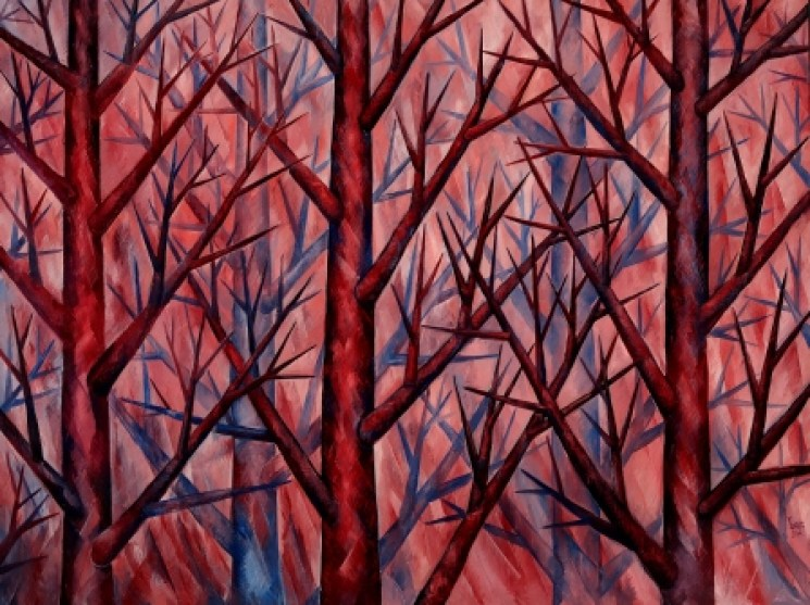 """""""Harmony in Pink"""", Symbiosis Collection. Original Oil on Canvas 72"""" x 96"""""""