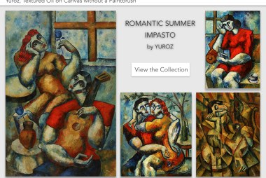 romantic summer impasto collection by Yuroz