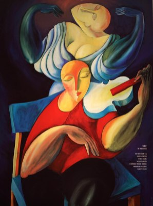 """White Violin"" Poster"