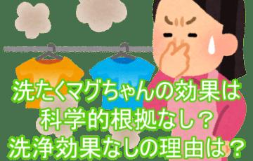 洗たくマグちゃんの効果は科学的根拠なし?洗浄効果なしの理由は?1