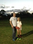 Shaun Wynn and daughter Lisa, after training