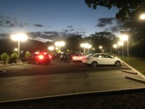 A packed carpark empties after training