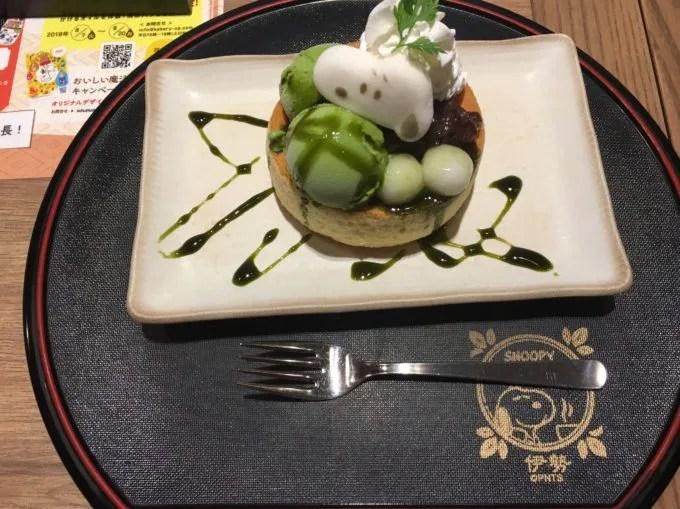 スヌーピ茶屋伊勢店のパンケーキ