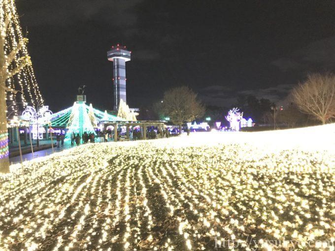 木曽三川公園2018年イルミネーション北ゾーン