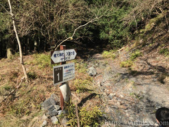 入道ヶ岳井戸谷ルートの通報ポイント1