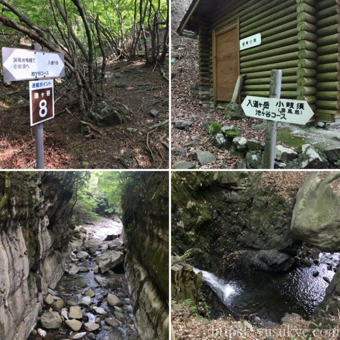 入道ヶ岳池ヶ谷ルート