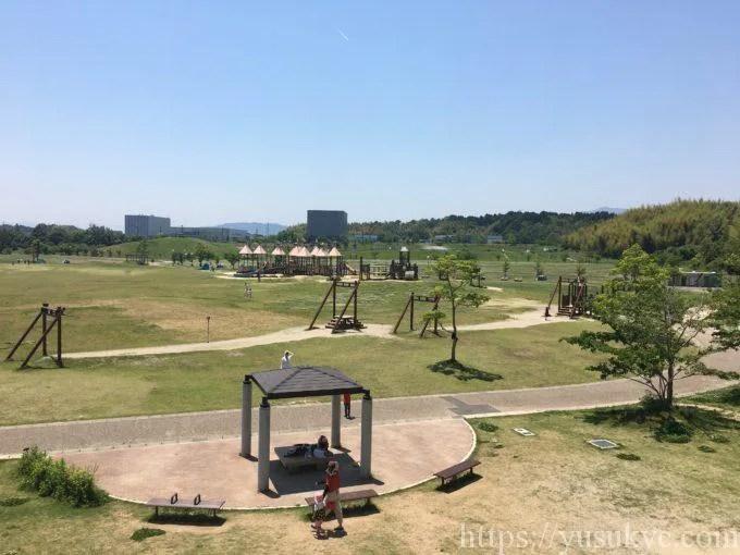 中勢グリーンパークのすべり台からの眺め