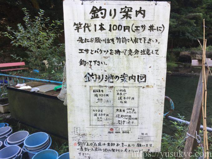 鱒の家の看板
