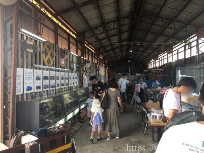 鉄道貨物博物館の屋内