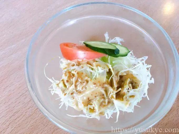 フーゲツのランチ(ほうれん草とベーコンのトマトソースパスタ)