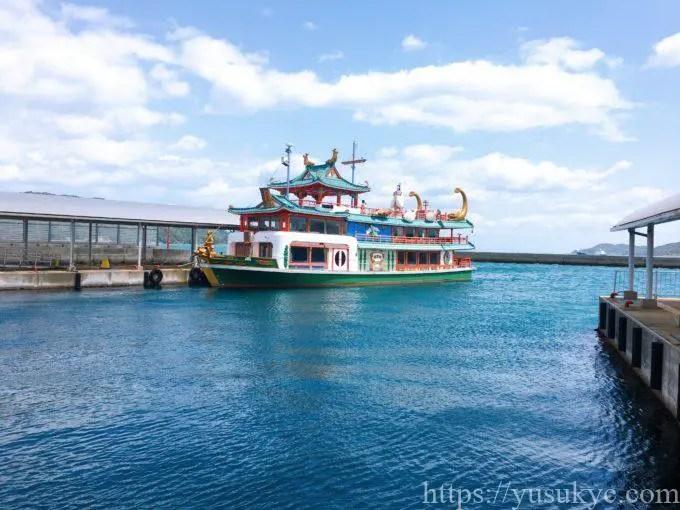 鳥羽のイルカ島の遊覧船
