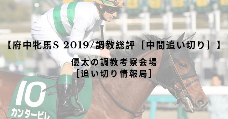 【府中牝馬S 2019/調教総評[中間追い切り]】