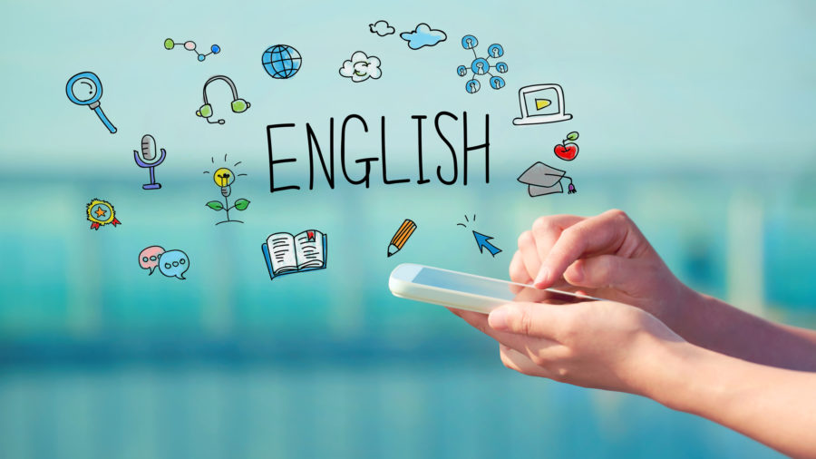 howtoimprovedyourenglishEnglish concept with smartphone