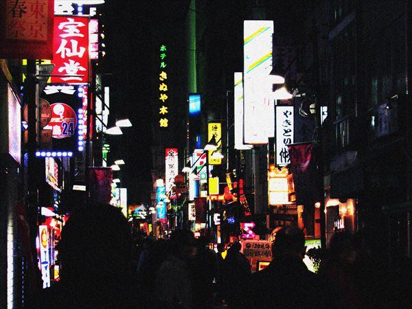 上野の繁華街