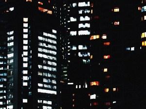 浜松町のビル街の灯り