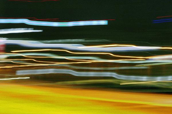 上野の歩道橋と閃光2