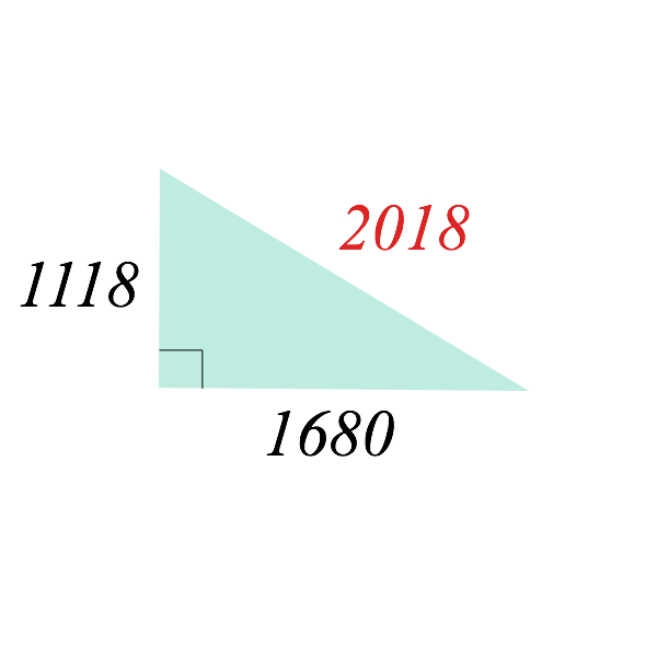 2018 is a part of Pythagorean triple