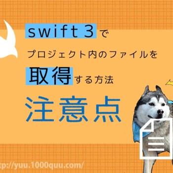 Swiftでファイルを取得する際の注意点の記事のアイキャッチ