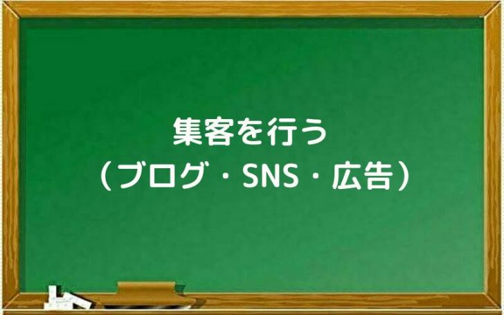 集客を行う(ブログ・SNS・広告)