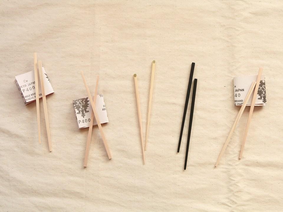 有鄰庵のオリジナルお箸作り体験