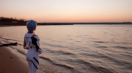Rei Standing on the Shore