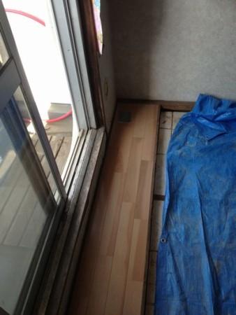 北側和室の掃出し板の間部分張替えました