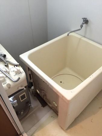 四角いお風呂です