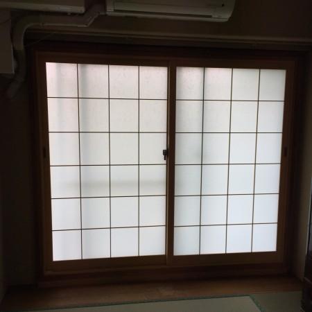 写真はうち窓インプラス内障子の代わりに設置しました