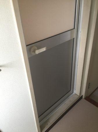 浴室用アルミフラッシュ交換