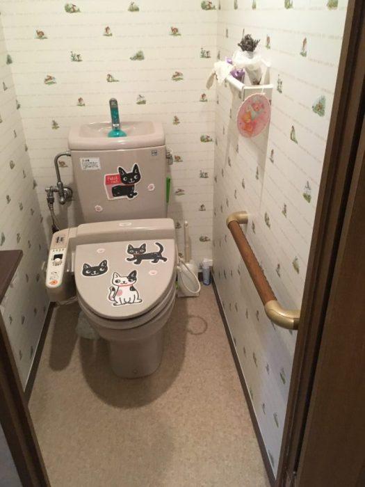 トイレの手すり施工例