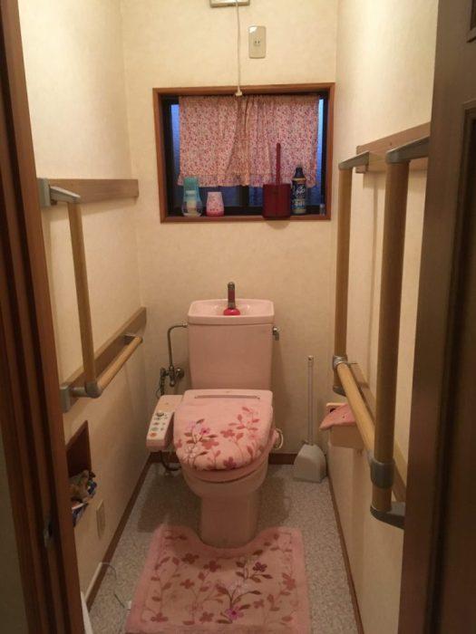 トイレに手すり設置
