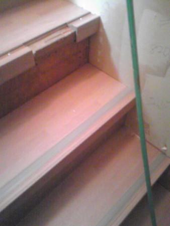 階段リフォーム中