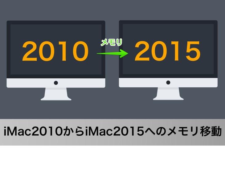 iMac2015年モデルにiMac2010年モデルのメモリを移動してみた結果