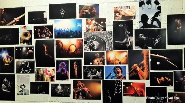 מוזיקאים בפעולה, התערוכה של גאיה בצוללת צהובה. צילום: יובל אראל