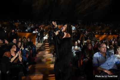 המופע של מירי מסיקה בהיכל התרבות. צילום יובל אראל