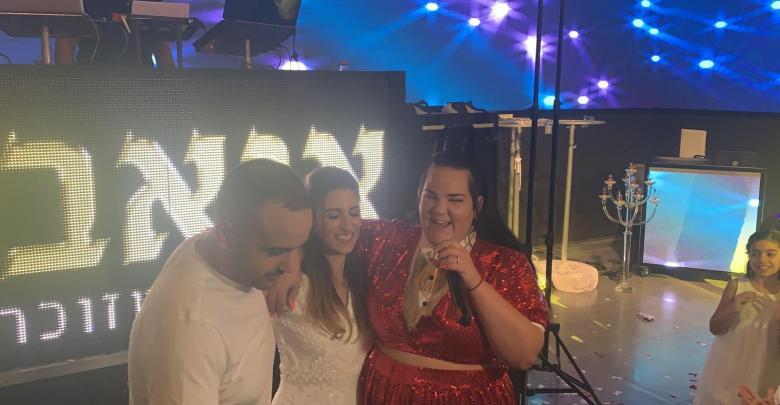 נטע ברזילי בחתונה בבאר שבע. באדיבות עופר מנחם תקשורת ויחסי ציבור