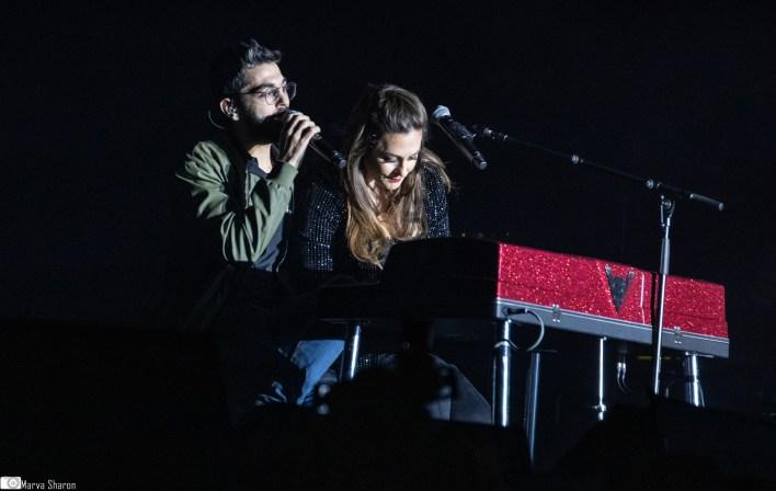 קרן פלס ואלדד כהן בהאנגר 11. צילום מרווה שרון