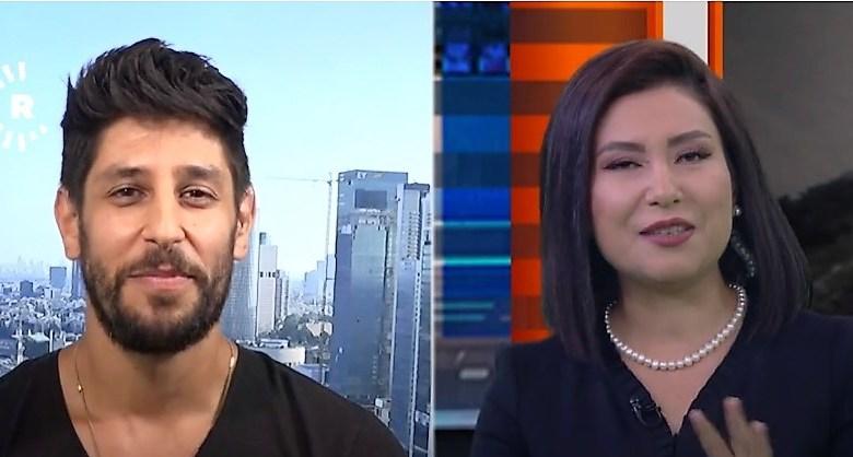 עידן עמדי בראיון בטלויזיה הכורדית צילומסך