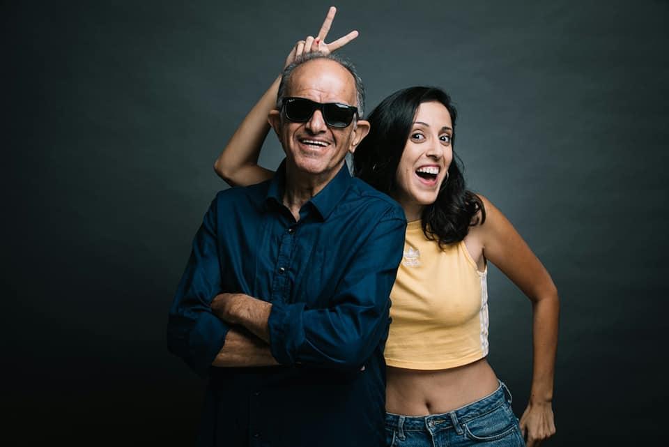 פרלה דנוך ואבא. צילום מעמוד הפייסבוק