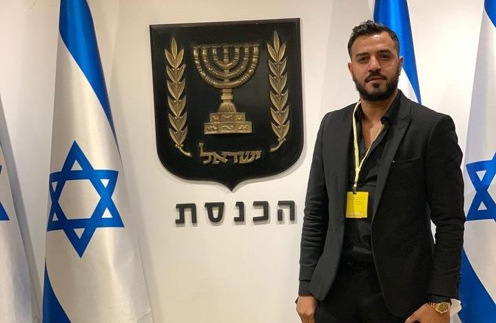 איתי לוי בכנסת ישראל. צילום פייסבוק האמן