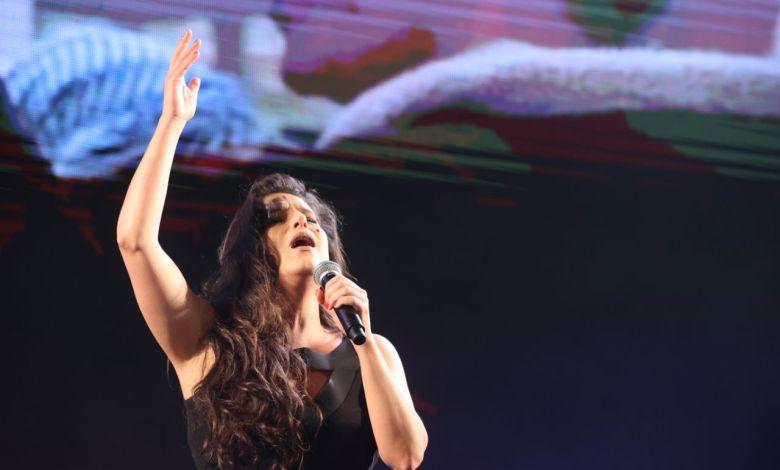 מירי מסיקה בעצרת הזיכרון ליצחק רבין. צילום מוטי קמחי