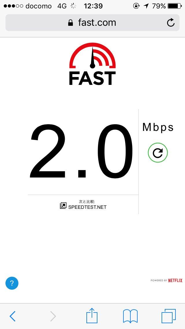 LINEモバイルをfast.comで計測した結果