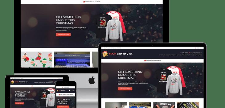 Responsive website design mockup