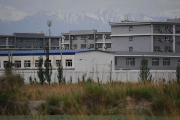Facility believed to be a internment camp where Muslim ethnic minorities are detained in China's northwestern Xinjiang region. (Greg Baker / AFP via Getty Images)